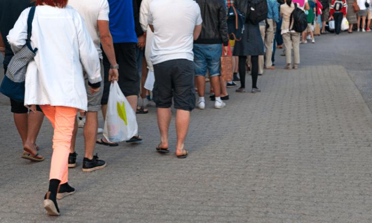 flea market shoppers