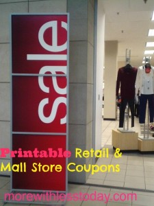 printable retail & mall store coupons