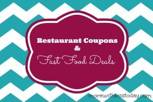 Fast food restaurant deals today