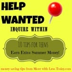 Thumbnail image for 10 Ideas for Teens to Earn Extra Money