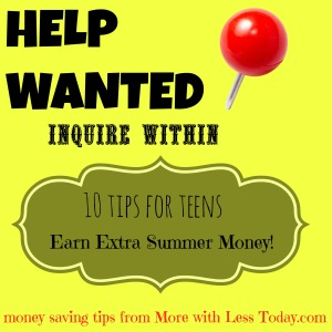 10 tips for teen earn extra money