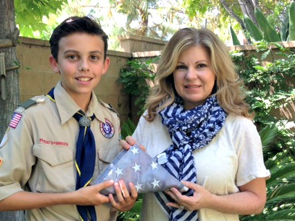Boy Scout Troops will take old flags and retire them properly