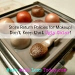 Return Makeup Policies at Drug Stores