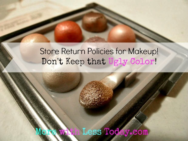 Walgreens return policy makeup