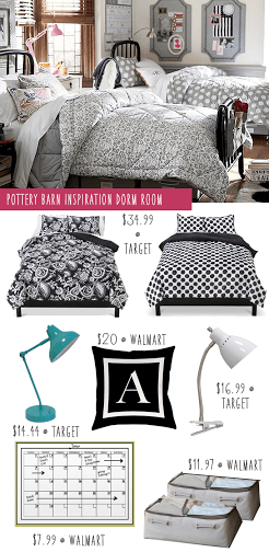pottery barn copycat dorm room