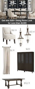 Thumbnail image for Decor on a Dime – Dining Room Redo Inspired by Restoration Hardware
