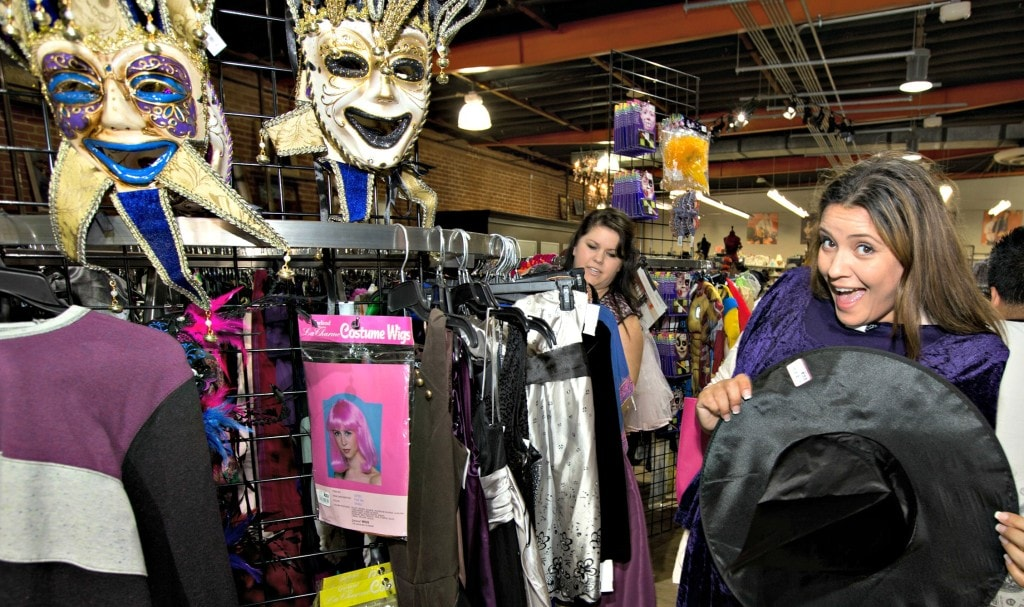 goodwill racks of costumes