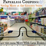 Paperless Coupons: Saving More at the Grocery Store Series