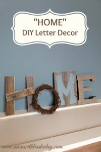 Thumbnail image for Home Decor DIY Letter Decor