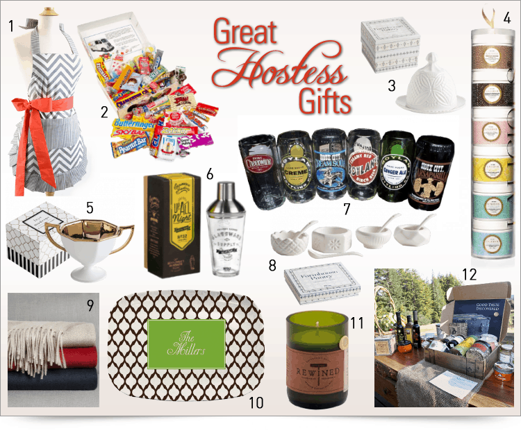 hostess gifts collage
