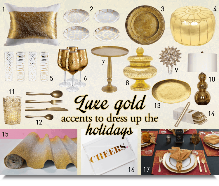 luxe gold accents