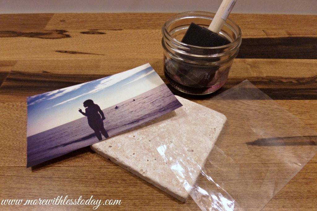 Photo Tiles Using Nail Polish Remover