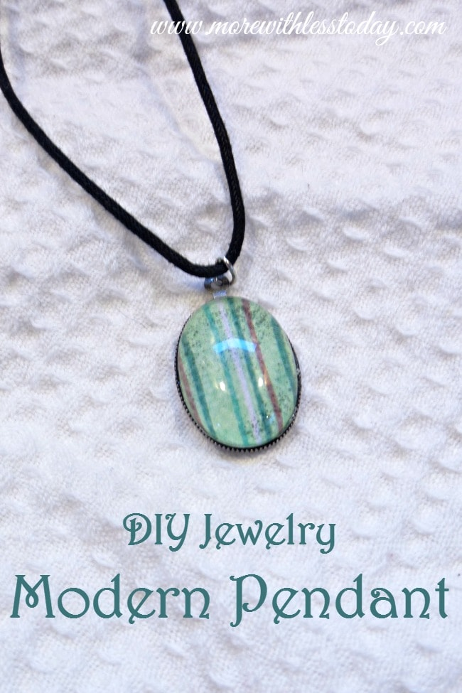 Give a DIY Jewelry Modern Pendant gift you can easy make and customize by following these easy steps. It is a fun craft to do with kids.