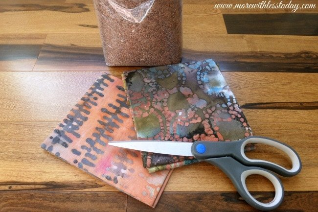 sew a Homemade Heating Pad DIY steps