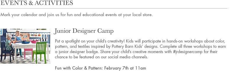 pottery barn junior design camp 2