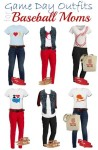 mix and match outfits for baseball mom style, mix and match outfits for baseball moms, baseball mom tshirts, get the look for less, baseball mom tote