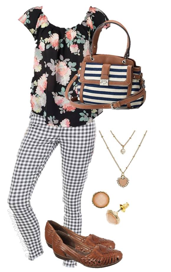 Kohl's Spring Mixed Patterns Outfit (2)