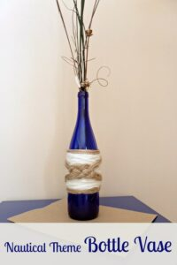 Nautical Theme Bottle Vase