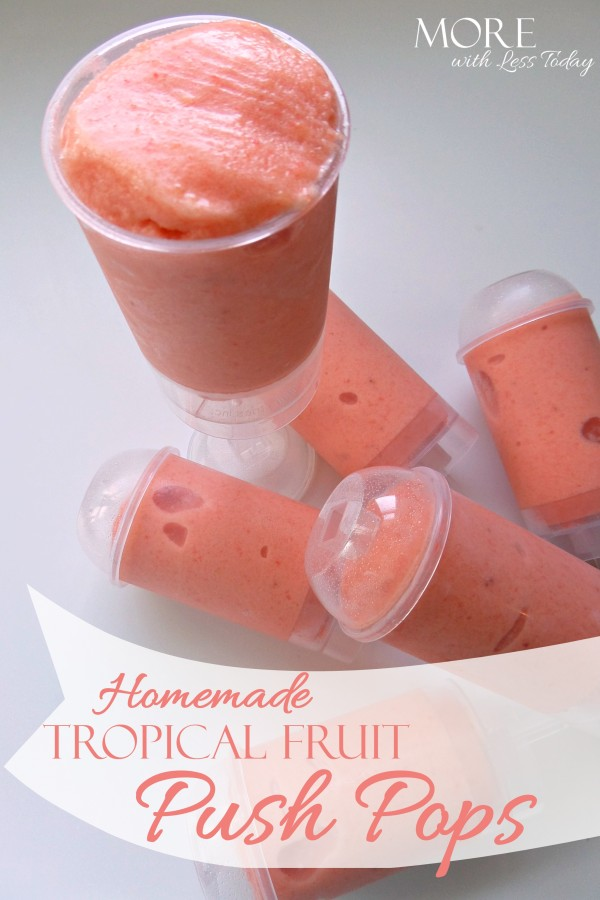 If you are looking for a healthy homemade treat made with fruit, see our Tropical Fruit Push Pops recipe. You can change up the recipe to your taste.