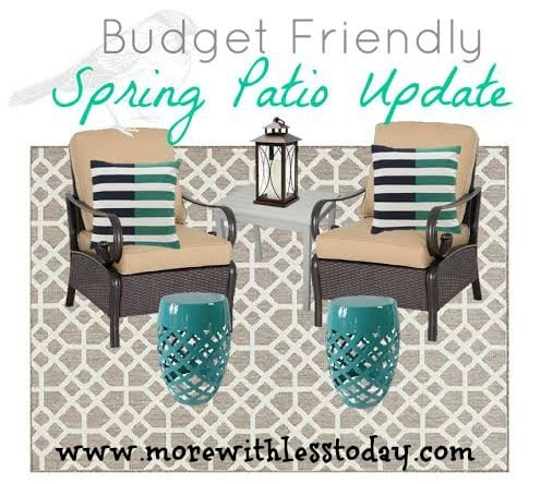 Kohl's Budget Friendly Patio Update with Kohl's Cash and Promo Codes - More With Less Today, Kohl's patio furniture savings and Kohl's, spring patio update