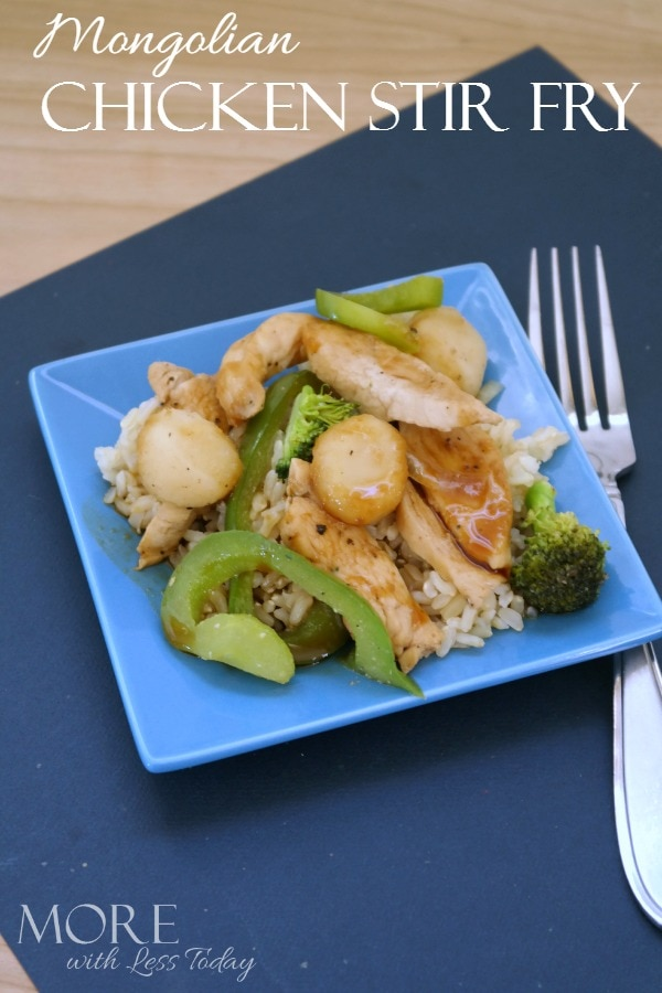 Try this Mongolian Chicken Stir Fry recipe and get good food on the table fast tonight!