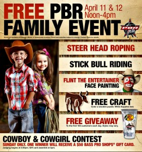 free April 11th PBR event Bass Pro Shops