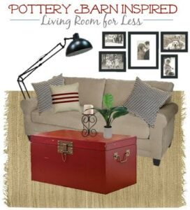 Thumbnail image for Pottery Barn Inspired Living Room Decor