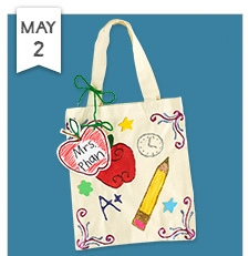 thank a teacher tote bag