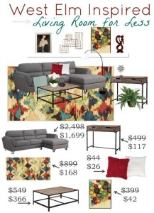 Thumbnail image for West Elm Inspired Living Room for Less
