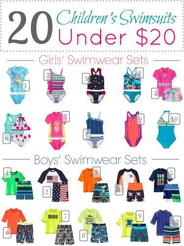 childrens swimwear under 20