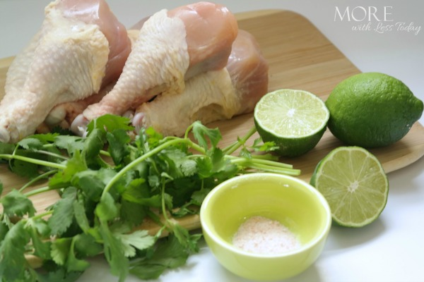 Cilantro Lime Grilled Chicken Drummies ingredients