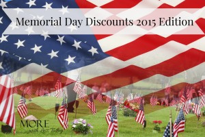 Thumbnail image for Memorial Day Discounts and Freebies for Active Military and Veterans 2015 Edition