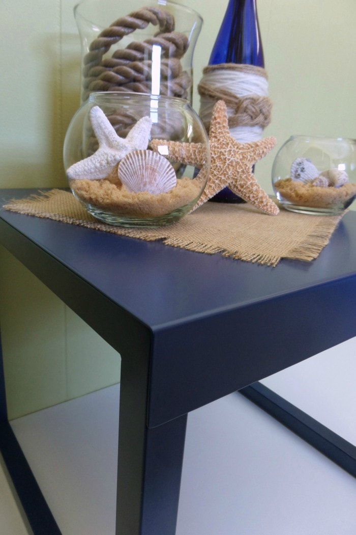 Sauder Berry Blue Accent Table