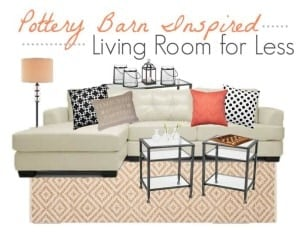 Thumbnail image for Pottery Barn Inspiration: Living Room Decor Using Black, White and Pink