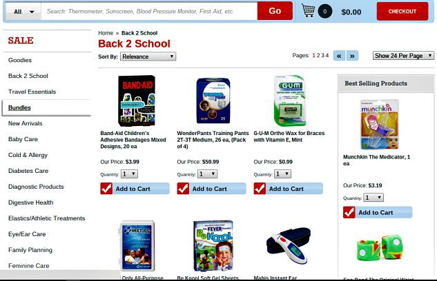get back to school supplies from FSA store, use your flexible spending dollars for common products