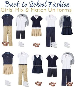 Thumbnail image for Target Girls' School Uniforms: Mix and Match Fashion Board