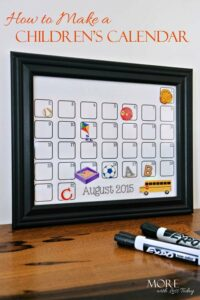 Thumbnail image for Make a Children's Calendar and Command Center the Whole Family Can Use