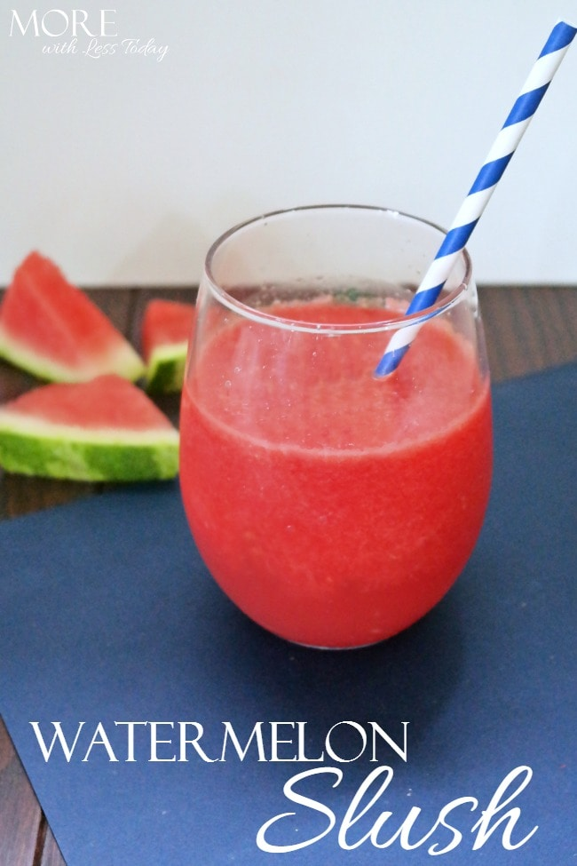 Celebrate the end of summer with this hydrating and delicious Watermelon Slush. It is a refreshing treat that everyone will love.