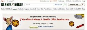B&N if you give a mouse a cookie