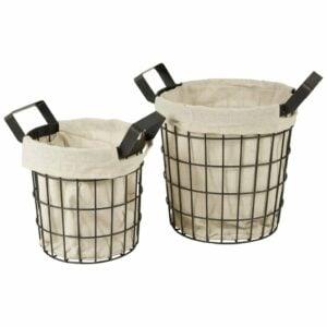 canvas baskets