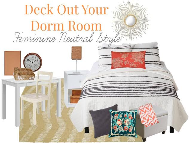 If you are looking for pretty dorm room decor on a budget, see what we found at Target. We created a feminine neutral dorm room.