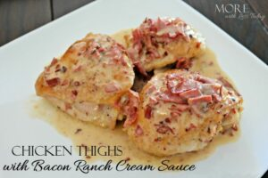 Thumbnail image for Chicken Thighs with Bacon Ranch Cream Sauce