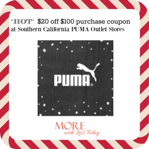Thumbnail image for Get $20 off Purchases of $100  at Southern California PUMA Outlet Stores