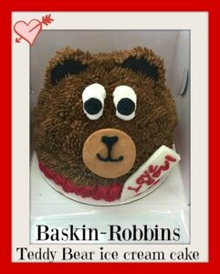 Thumbnail image for Baskin-Robbins Valentine's Day Teddy Bear Ice Cream Cake – So Sweet!