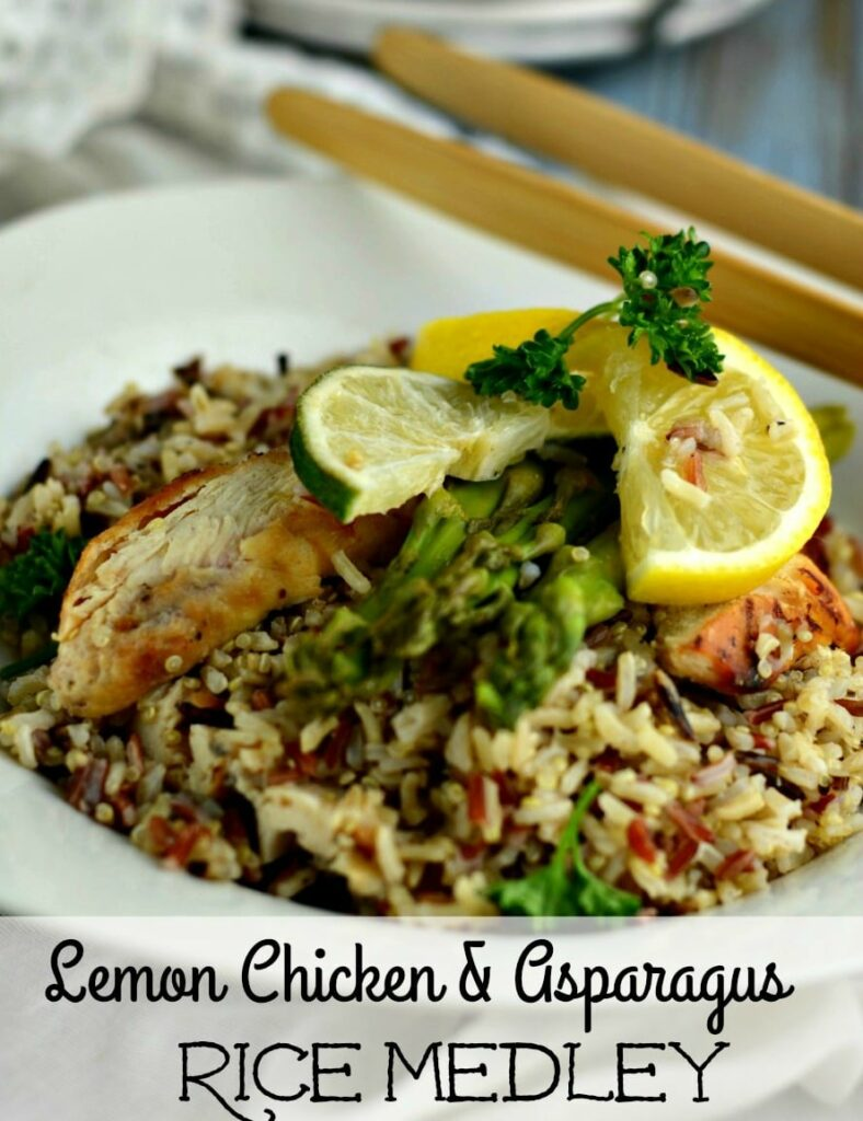 If you are looking for an easy recipe for Lemon Chicken and Asparagus with Rice, this one will get good food on the table fast!