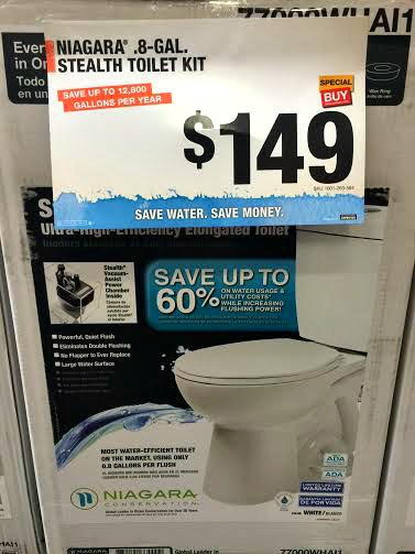 Stealth toilets at Home Depot