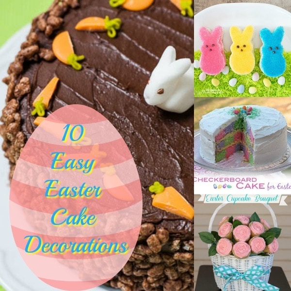 Easy Easter Cake Decorations- Easy Ideas for Cute Easter Cakes.Turn your ordinary cake into something extraordinary with these 10 easy Easter cake decorations. Discover new ideas for easy Easter cake decorating.