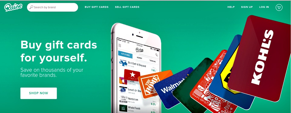 buy raise.com gift cards