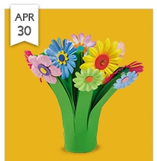 Lakeshore Learning kids craft April 30th