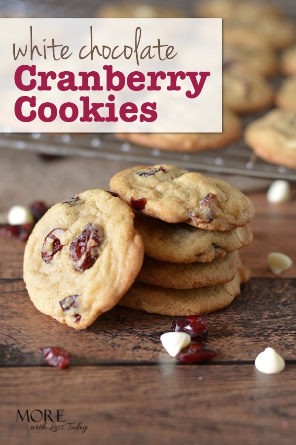 White Chocolate Cranberry Cookies, an easy recipe everyone will love.